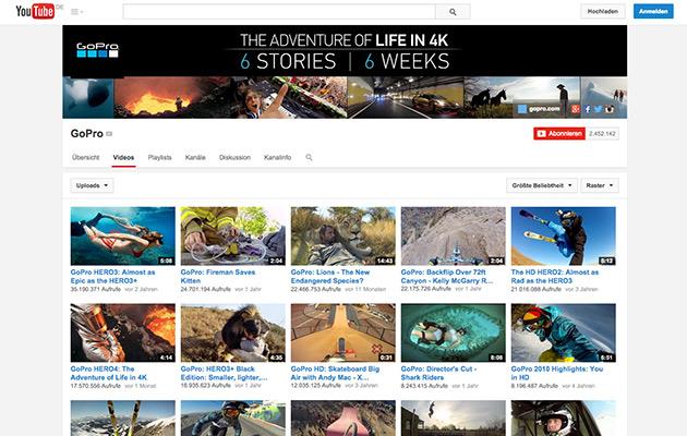Content Marketing-Beispiele: GoPro