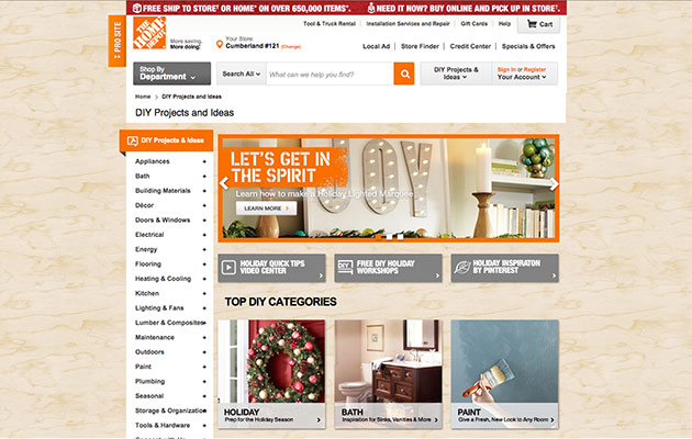 Content Marketing-Beispiele: Home Depot