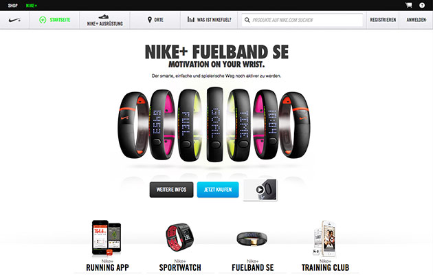 Content Marketing-Beispiele: Nike+